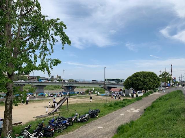 松尾橋河川敷(京都府京都市右京区)